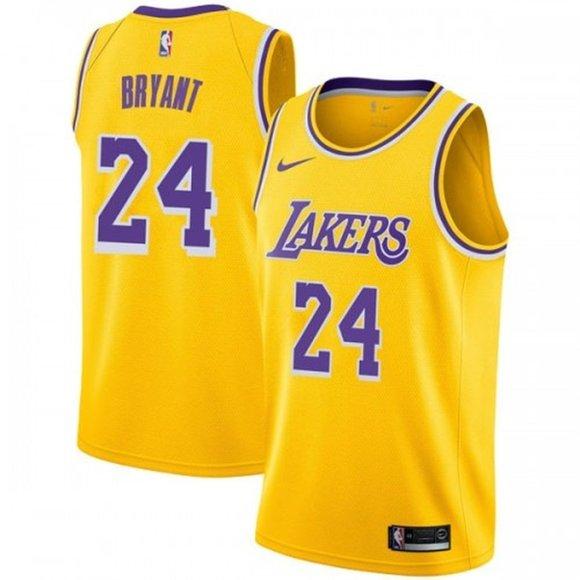 Shirts   Los Angeles Lakers 24 Kobe Bryant Gold Jersey 2   Poshmark